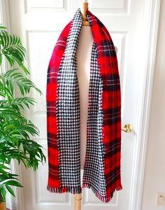 Buffalo Plaid Gingham Reversible Blanket Scarf